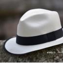 Chapeau panama grey trilby