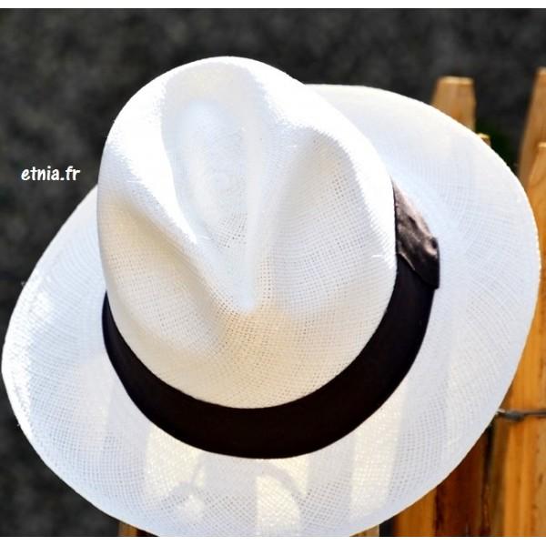 nouvelles promotions images officielles technologies sophistiquées chapeau panama fédora unisexe fait main en équateur